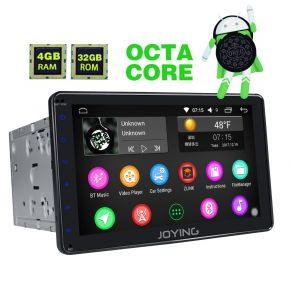 Joying EU Warehouse Android 8.0 Octa Core 8 Inch Double Din Car Navigation System 4GB/32GB Support Split Screen