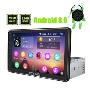 JOYING Best Aftermarket 8 Inch Single Din Touch Screen Android 8.0 Auto GPS Navigation System With Bluetooth