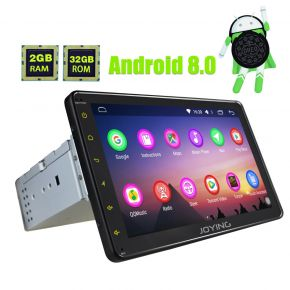 Joying EU Warehouse Android 8.0 Octa Core 8 Inch Single din Touch Screen Bluetooth Navigation System