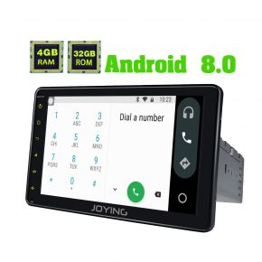 Joying Latest Android 8.0 Oreo 4GB/32GB 8 Inch Single Din Car Sound System Upgrade