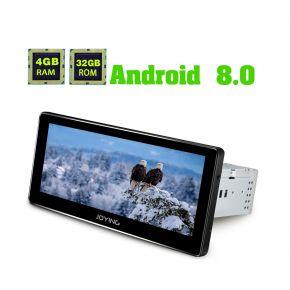 Joying Android 8.0 Oreo Car Navigation System 8.8 Inch Single Din Auto Radio 4GB