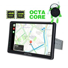 Joying EU Warehouse Best Android 8.0 Oreo System 10.1 Inch Single Din Car Radio System with 4GB/32GB
