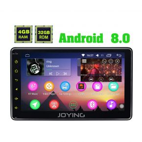 Joying Newest Android 8.0 Oreo 7'' Single Din Car Entertainment System with 4GB Ram