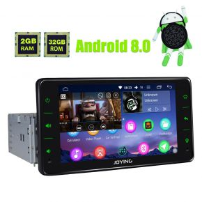 Joying 6.2 Inch Single Din Octa Core Android 8.0 Oreo Car Navigation System