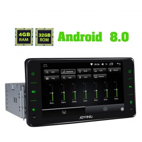 Joying 6.2 Inch Single Din Android 8.0 Oreo Car Stereo Head Unit with 4GB/32GB