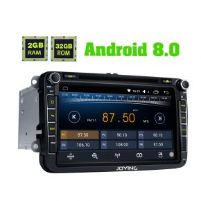 Joying VW Amarok Caddy CC Jetta Android 8.0 Car DVD Player 8 Inch Octa Core Head Unit Replacement