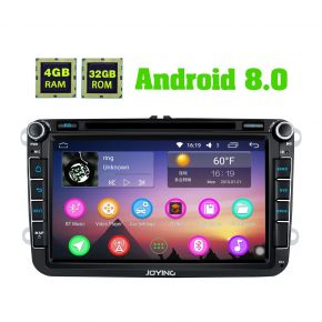Joying Latest 4GB/32GB Android 8.0 VW Car Entertainment System for Volkswagen Skoda Seat