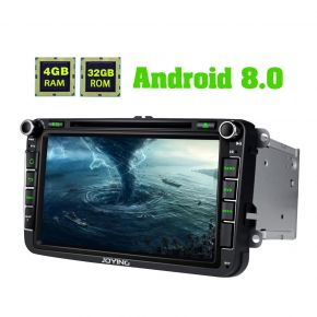 Joying EU Warehouse Android 8.0 Oreo System 8 Inch VW Skoda Seat Car Music System Head Unit 4GB/32GB