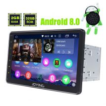 Joying Best 10.1 Inch Big Touch Screen Android 8.0 Octa Core Car Music System Auto Radio Replacement for Universal