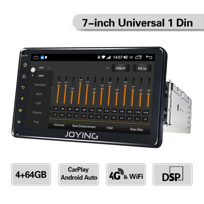 JOYING EU Warehouse 7 Inch Single Din Car Bluetooth Navigation System  Support Wireless Carplay