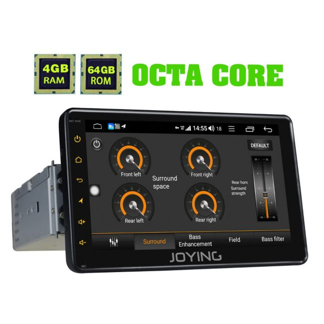 Joying Latest 7 Inch Single Din 4GB+64GB Android 8 1 0 Car Media Player  with Built-in 4G Module