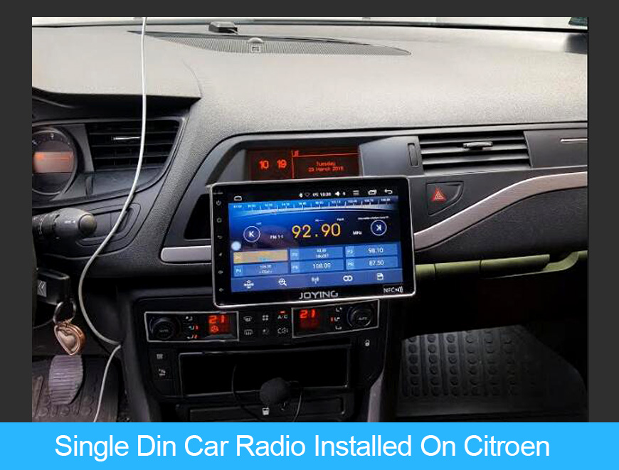 Joying 8 Inch Single Din Car Stereo Installed on Citroen